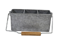 CONEY ISLAND GALVANISED 3 COMP CADDY WITH HANDLE